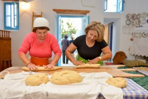 "November 2014. ...shaping breads. It took place during the workshop ""Traditional wedding's sweet ""melekouni"" and bread of the Archangelos village"". Host: Traditional house ""Tsampika"". Archangelos Rhodes."