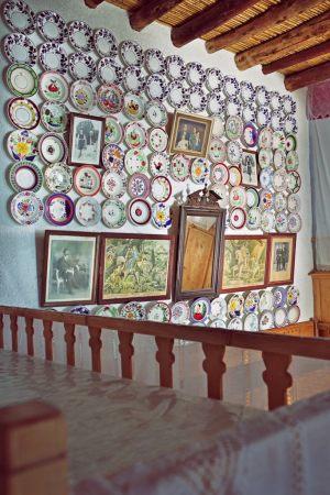 "The ""plateloticho"" (the plate wall). ""Serafi"" home Archangelos Rhodes"