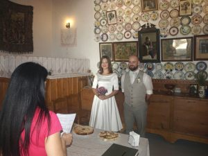 """September 2015. Michal and Ivana from Slovakia were maried in """"Serafi"""" nostos - homes."""