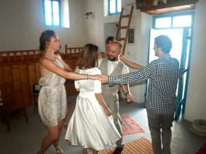 "September 2015. Michal and Ivana from Slovakia were maried in ""Serafi"" nostos - homes."